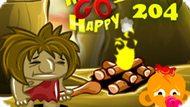 Игра Счастливая Обезьянка: Уровень 204 / Monkey Go Happy Stage 204