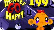 Игра Счастливая Обезьянка: Уровень 199 / Monkey Go Happy Stage 199