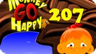 Игра Счастливая Обезьянка: Уровень 207 / Monkey Go Happy Stage 207