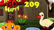 Игра Счастливая Обезьянка: Уровень 209 / Monkey Go Happy Stage 209