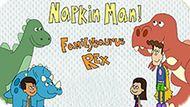 Игра Приключения Человека-Салфетки! Семейный Динозавр Рекс  / The Adventures Of Napkin Man! Familysaurus Rex
