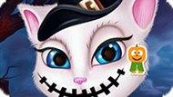 Игра Говорящая Анжела Готовится К Хэллоуину
