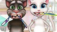 Игра Говорящий Кот: Анжела И Том У Дантиста