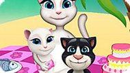 Игра Говорящий Кот: Анжела На Пикнике