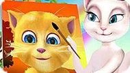 Игра Говорящий Кот: Анжела Рисует Рыжика