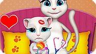 Игра Говорящий Кот: Анжела Ухаживает За Малышкой