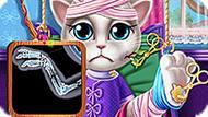 Игра Говорящий Кот: Анжела В Госпитале