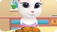 Игра Говорящий Кот: Маленькая Анжела Готовит Печенье