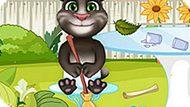 Игра Говорящий Кот: Малыш Том Убирает Сад