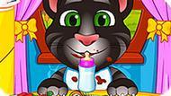 Игра Говорящий Кот: Младенцы Анжела И Том