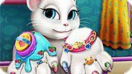 Игра Говорящий Кот: Спа-Процедуры Для Ногтей Анжелы