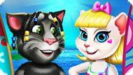 Игра Анжела И Том: Пляжный Отпуск
