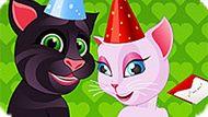 Игра Говорящий Кот Том И Анжела: Школьный Тест