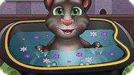 Игра Говорящий Кот Том: Малыш В Ванной