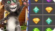 Игра Говорящий Кот Том: Матч Драгоценных Камней