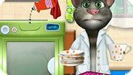 Игра Говорящий Кот Том Моет Посуду