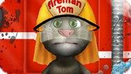Игра Говорящий Кот Том Моет Пожарную Машину