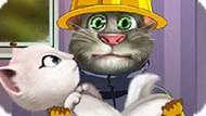 Игра Говорящий Кот Том Пожарный