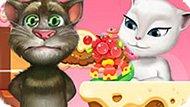 Игра Говорящий Кот Том Целует Анжелу 2