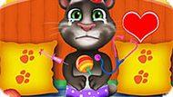 Игра Говорящий Кот Том: Уход За Малышом