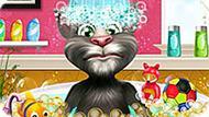 Игра Говорящий Кот Том В Душе
