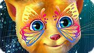 Игра Говорящий Кот: Живопись На Лице Рыжика