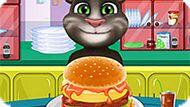 Игра Говорящий Малыш Том Готовит Гамбургер