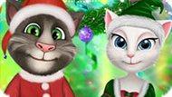 Игра Говорящий Том И Анжела: Новогодняя Вечеринка