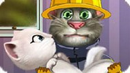 Игра Говорящий Том Пожарный