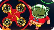 Игра Космический Спиннер: Избеги Лавы