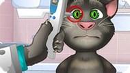 Игра Лечить Глаза Говорящему Коту Тому