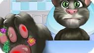 Игра Лечить Лапу Говорящему Коту Тому
