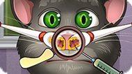 Игра Лечить Нос Говорящему Коту Тому
