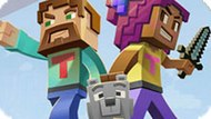 Игра Майнкрафт: Соедини Персонажей