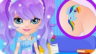 Игра Малышка Барби Дизайнер Тату
