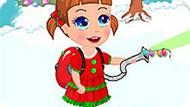 Игра Малышка Севен: Рождественская Уборка