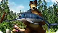 Игра Маша И Медведь: Рыбалка