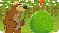 Игра Маша И Медведь: Сколько Зверей За Кустом?