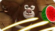 Игра Медведи-Соседи: Фруктовый Ниндзя