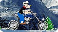 Игра Моряк Папай: Снежная Гонка