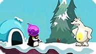 Игра Пингвиненок Пороро Против Полярного Медведя