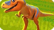 Игра Поезд Динозавров: Пазл-Пятнашки