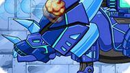 Игра Робот Динозавр: Голубой Трицератопс
