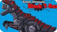 Игра Роботы Динозавры: Черный Тиранозавр