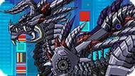 Игра Роботы Динозавры: Дракон Скелет