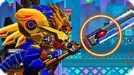 Игра Роботы Динозавры: Лев Герой