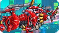 Игра Роботы Динозавры: Огненный Носорог