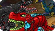 Игра Роботы Динозавры Приключения: Голубой Трицератопс