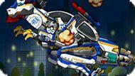 Игра Роботы Динозавры: Ремонт Т-Рекса Полицейского