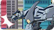 Игра Роботы Динозавры: Смилодон Трансформер